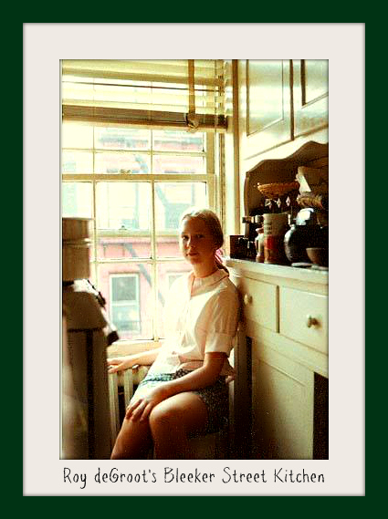 Leslie Macchiarella in Roy deGroot's kitchen bakethiscake