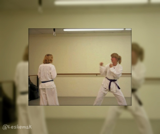 Leslie Macchiarella martial arts training bakethiscake