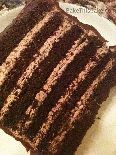 12 layer chocolate mocha cake