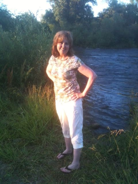 Christine by the river