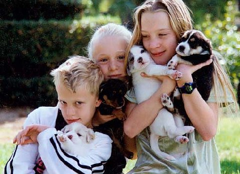 Macchiarella kids with their puppies Photo by LifeForcePhotos