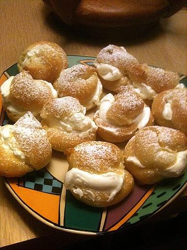 Mini Cream Puffs filled with whipped cream Photo by Leslie Macchiarella