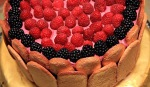 Wild Blackberry Bavarian Cream Charlotte Russe by BakeThisCake dot com