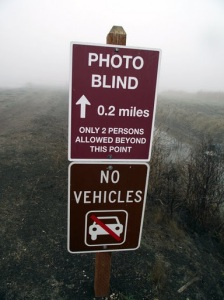 Photo Blind sign Merced National Wildlife Reserve