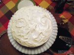 Direct overhead Whipped Cream 2 Cake BakeThisCakecom LifeForcePhotoscom
