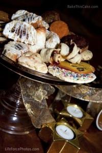 mixed holiday cookies on a cake platter photo by LifeForcePhotoscom BakeThisCake