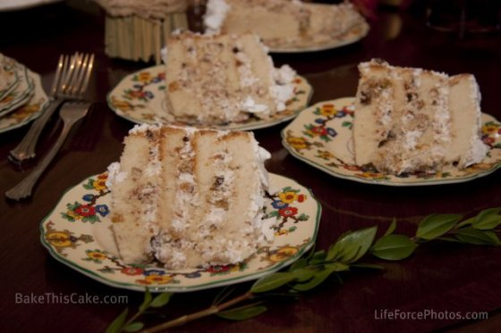 Lady Baltimore 3 slices BakeThisCake Photo by LifeForcePhotos
