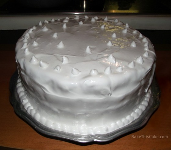Lady Baltimore Cake frosted with Boiled Icing by BakeThisCake