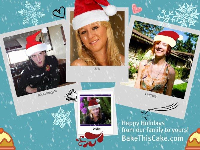 Macchiarella Family Photo Collage 2011 holiday Christmas card BakeThisCake