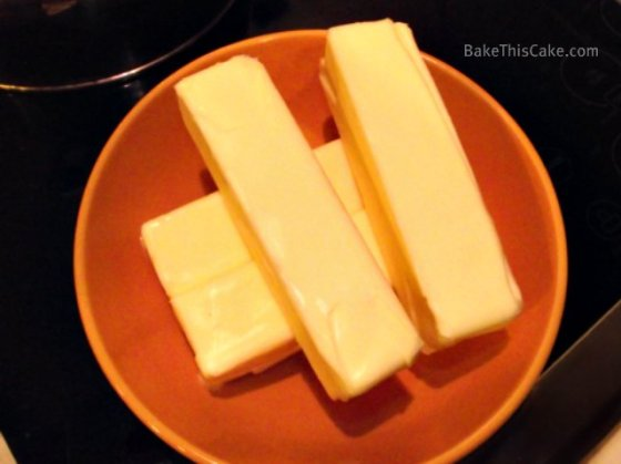 Preparing room temperature butter for Lady Baltimore Cake Bake This Cake dot com