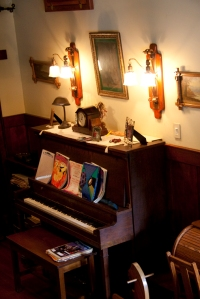 upright piano at the river house