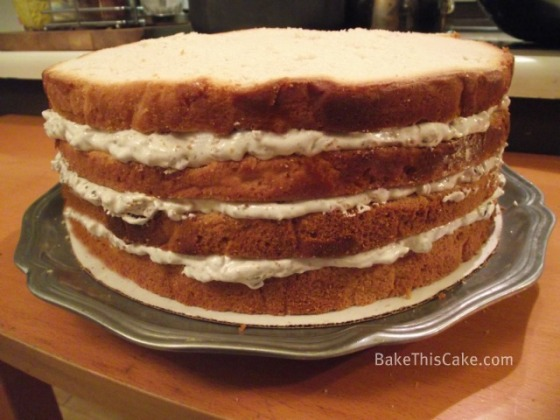 Unfrosted filled Lady Baltimore Cake by BakeThisCake