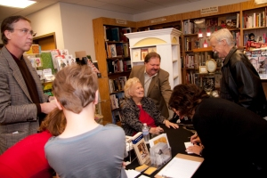 Viola Odell signing While Wandering books Photo by John Albritton