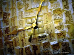 Broken China Clock Photo by Leslie Macchiarella for BakeThisCake
