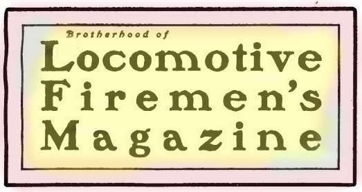 Brotherhood of Locomotive Firemen's Magazine Masthead