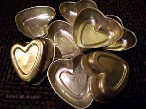Cupid Heart Valentines Day Mini Baking pans BakeThisCake