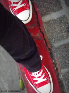 Leslie's  New Red Tennies by Leslie Macchiarella for BakeThisCake
