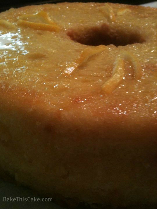 Life Force Lemon Drizzle Cake close up by Bake This Cake