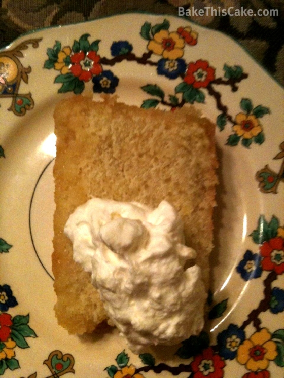 Life Force Lemon Drizzle Cake slice with Chantilly Cream Bake This Cake