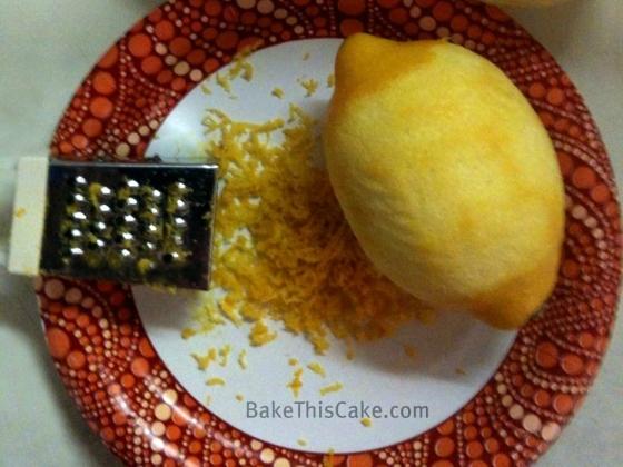 One lemon grated for peel Bake This Cake