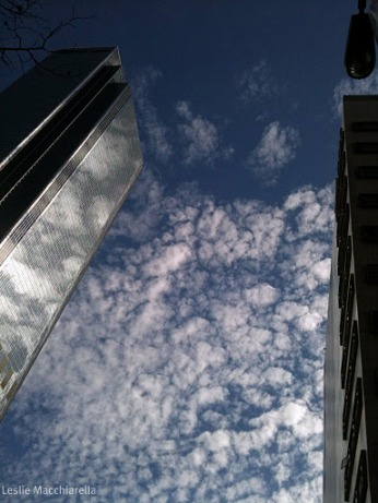 Clouds Downtown LA  iphone photo by Leslie Macchiarella