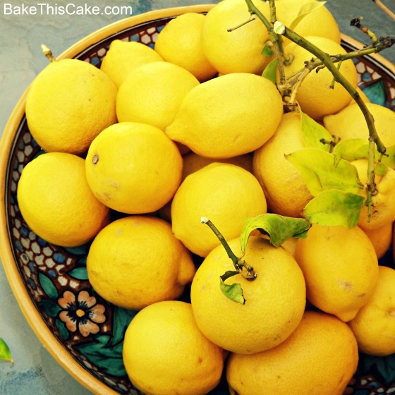 Lemons from the Tree Bake This Cake
