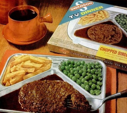 Swanson TV Dinner ad in Jan 4 1963 Life Magazine