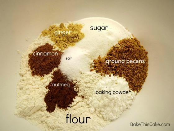 Dry Ingredients for Honey Ginger Spice  Cake Bake This Cake