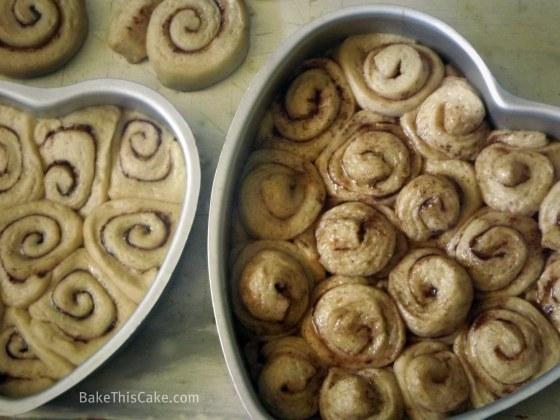 Grandma Matson's Cinnamon Rolls in various pans BakeThisCake