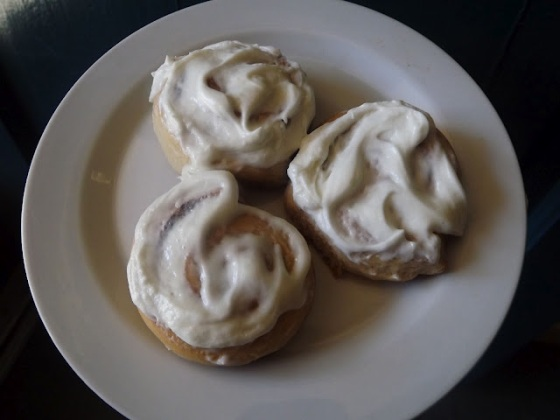 Individual Cinnamons Rolls Frosted BakeThisCake