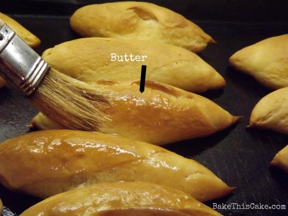 Brushing Butter on Baked #Bread Rolls Bake This Cake
