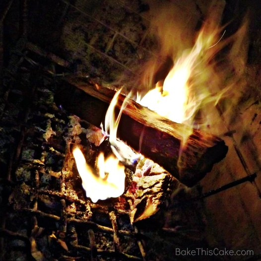 Fireplace at Camp Blogaway Bake This Cake