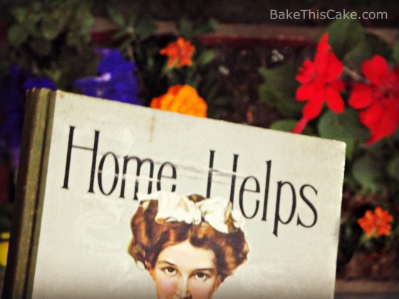 Home Helps Vintage Cookbook photo by Leslie Macchiarella for BakeThisCake