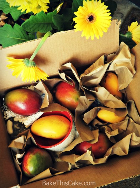 Mango Board box of mangoes #Bake This #Cake