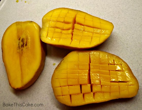 Sliced for diced mangoes #Bake This #Cake