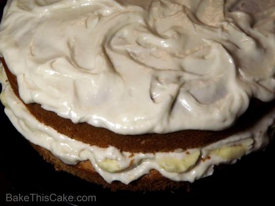 Banana Cake Recipe looking down BakeThisCake