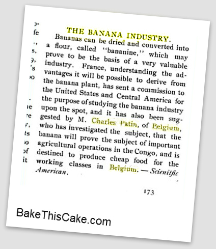 Banana Industry Discussion 1897 BakeThisCake