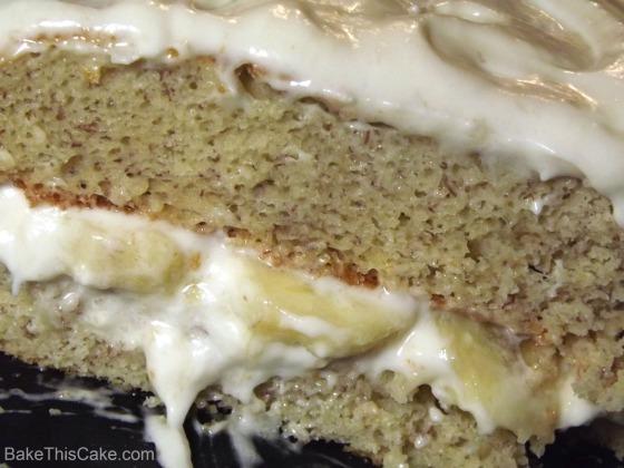 Banana Layer Cake Cutaway Recipe Bake This Cake
