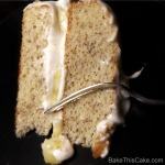 Banana Layer Cake with fork2 on black plate Bake This Cake