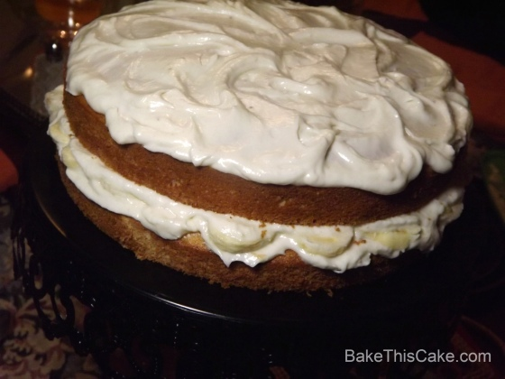 Betty's Banana Layer Cake with Fresh Banana Cream Frosting BakeThisCake