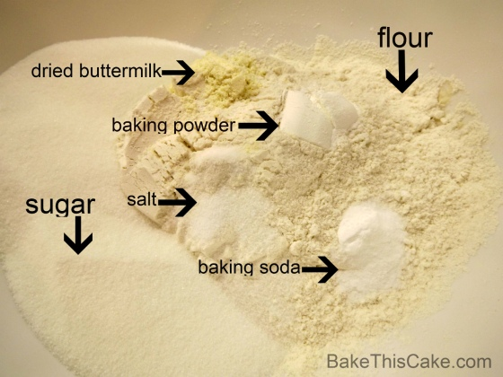 Dry Ingredients for Banana Bread