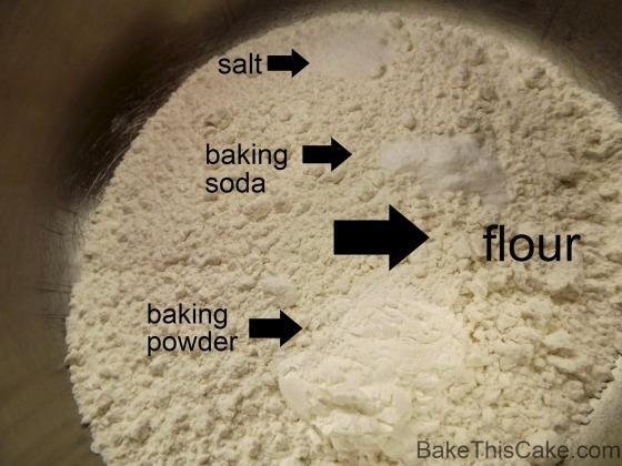 Dry Ingredients for Banana Layer Cake Recipe Bake This Cake