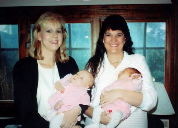 Leslie and Julie with our newborns