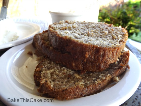 Slices of Banana Bread with Fixins Bake This Cake