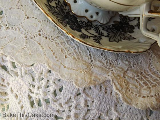 Handmade Vintage Lace Bake  This Cake