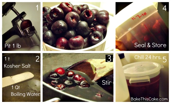 Homemade Maraschino Cherries Step 1 Collage Bake This Cake