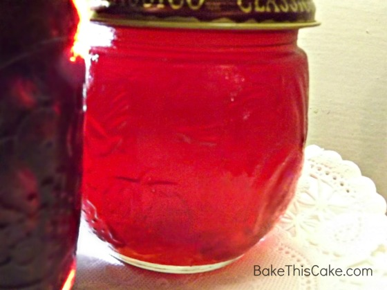 Jar of Homemade Maraschino Cherry Syrup Recipe Bake This Cake