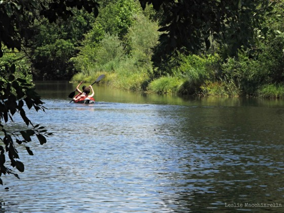 Kids Canoeing on the Merced River photo by Leslie Macchiarella