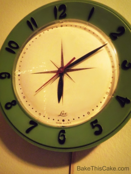 Retro Kitchen Clock Bake This Cake