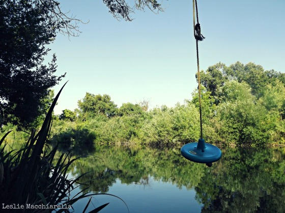Rope Swing at the river house photo by Leslie Macchiarella